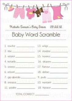 Exceptional Baby Shower Games By Craziskygirl74