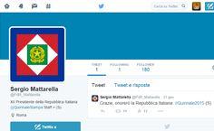 Il profilo Twitter con maggiori possibilità di essere il profilo ufficiale del Presidente della Repubblica Italiana Sergio Mattarella