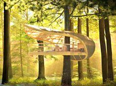 E'terra Samara : Projet d'hôtel dans les arbres cinq étoiles