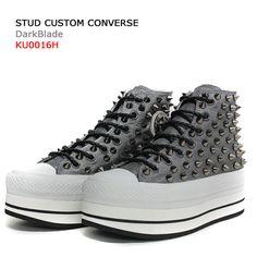 341ba760123e Studded Custom Converse Platform DARK BLADE by SHOEDYcustom