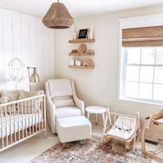 This neutral nursery showcases natural wood tones and plenty of rattan details. image by nursery decor Here's What's Trending in the Nursery this Week - Project Nursery Baby Room Diy, Baby Bedroom, Baby Room Decor, Nursery Room, Girl Nursery, Wood Nursery, Girl Room, Playroom Decor, Diy Baby