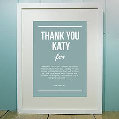 "personalized ""thank you"" posters"