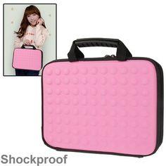 Knalroze geribbelde tas voor je tablet (max 10,1 inch) Lunch Box, Bento Box