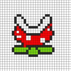 Mario Fire Thrower Perler Bead Pattern | Bead Sprites | Characters Fuse Bead Patterns