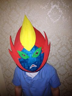 How to make a Ben 10 Paper Mache Mask: Swampfire