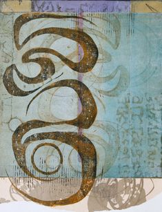 Gossamer Gleanings,by Anne Moore, monotype with collage, Gelli Printing, Stamp Printing, Mixed Media Painting, Painting Prints, Art Prints, Mix Media, Wax Art, Shape Art, Art Graphique