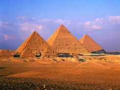 """the pyramids of Giza were originally white.  When the pyramids were originally finished, they were plated in and outer layer of white """"casing stones"""". These casing stones were cut with astounding precision to give a smooth slope to the pyramids, unlike how they appear today with the outer stones more or less forming very large """"steps""""."""
