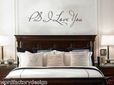 PS I Love You - Wall Art Decal - Home Decor - Famous & Inspirational Quotes