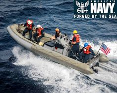 U.S. Navy sailors operate a 7-meter rigid hull inflatable boat (RHIB) during small boat operations at an undisclosed location in the East China Sea. Navy Sailor, Inflatable Boat, Small Boats, Sailors, China, Sea, Sailor, Ocean