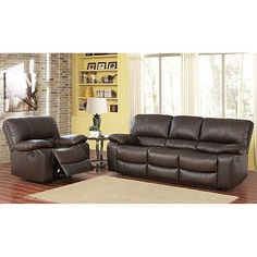 Sophie Top Grain Leather Sofa Loveseat And Armchair Set