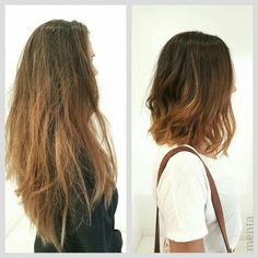 Sin cambio,no hay mariposa....NATALIA  hiciste una buena elección con este BOB LONG atemporal, te permite llevarlo tanto suelto como recogido💇🙆 como a ti te gusta 🙋❤ #balayage #hairstyle #zaragoza #bloggerzaragoza #fashionblogger #menta_zaragoza #nothingbypixie  #behinthechair