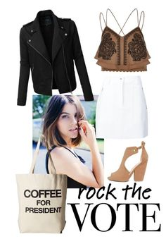 """""""#rockthevote"""" by makita-banana on Polyvore featuring Dogeared, Qupid, rag & bone, River Island and LE3NO"""