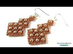Shop   PotomacBeads Beaded Earrings, Beaded Jewelry, Handmade Jewelry, Beaded Bracelets, Jewellery, Jewelry Making Tutorials, Beading Tutorials, Wire Weaving Tutorial, Jewelry Patterns