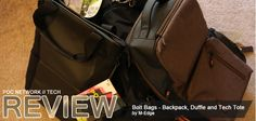 Review: M-Edge Bolt Bags – Backpack, Duffle and Tech Tote | Poc Network // Tech