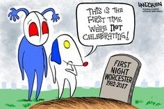 Landgren cartoon: R.l.P. First Night Worcester