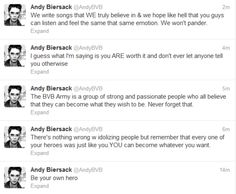 One of my favorite people and in my favorite band (well BVB is tied for 1 with MCR) I look up to Andy sooo much Black Viel Brides, Black Veil Brides Andy, Andy Biersack, Emo Bands, Music Bands, Vail Bride, Bvb Fan, Andy Black, Band Memes