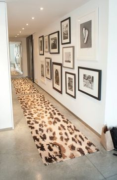 Tour Jewelry Designer Jennifer Fisher's Edgy but Kid-Friendly NYC Pad Love the leopard runner and gallery wall! Tour Jewelry Designer Jennifer Fisher& NYC Home Bar Vintage, Future House, My House, My New Room, Architecture, My Dream Home, House Tours, Interior And Exterior, Beautiful Homes