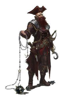 Pirate Rogue - Pathfinder PFRPG DND D&D d20 fantasy