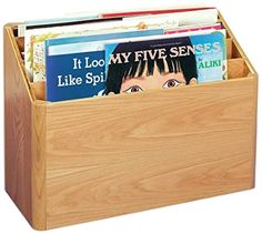 Korners for Kids 204973 Mobile Big Book Storage, Oak, UV Acrylic, x x Natural Wood Tone Big Book Storage, My Five Senses, Book Cabinet, Book Bins, Toddler Books, School Organization, Natural Wood, Classroom Ideas, Teacher