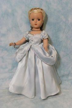14-1950-Madame-Alexander-Cinderella-HP-Margaret-Blue-Satin-Gown-Glass-Slippers