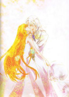 Happy Wedding (Minako & Kunzite)  Fanart by MOMOKO  Photoart from  ELOPE TO THE EARTH