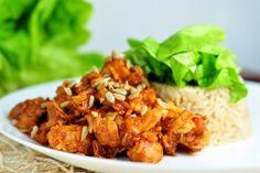 Low carb recepty s nízkým obsahem sacharidů Tofu, Poultry, Food And Drink, Rice, Treats, Chicken, Fitness, Cooking, Recipes