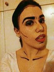 Roy Lichtenstein-Inspired Pop Art Comic Makeup by Theodora Kyriakou
