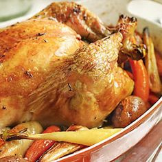 Roasted Chicken - All in one meal - w Root Veggies: Carrots, Potatoes, & Parsnips
