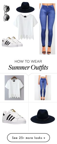 Cool summer outfit by raxuvlog on Polyvore featuring rag  bone and adidas ADIDAS Women's Shoes - http://amzn.to/2jVJl2y
