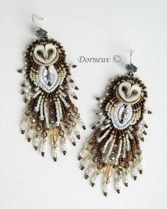 So cute beaded owls earrings. Animal inspiration.