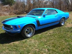 Das a nice color. Just put on some white walls and were good to go.    1969 Ford Mustang Boss 302