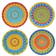 """Shop for Certified International Valencia 8.75"""" Salad/Dessert Plates (Set of 4) Assorted Designs. Free Shipping on orders over $45 at Overstock.com - Your Online Kitchen"""