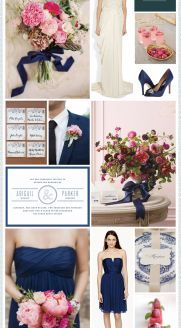 Raspberry & Navy Wedding Inspiration