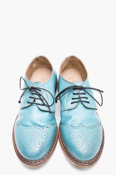 MARSÈLL //  Bright Blue Leather Brogues