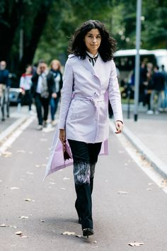 Street style à la Fashion Week printemps-été 2017 de Milan