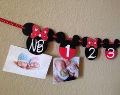 Minnie Mouse 12 meses foto bandera bandera de la foto fiesta