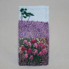Brooch 'Moorland heathers'. Textile crafts (Lynwoodcrafts UK)