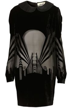 decoarchitecture:    Dressvia thegreygardens  The tags suggest this was being sold at Top Shop.    Art Deco hipstering hnng