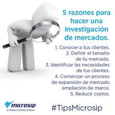 #TipsMicrosip 5 razones para hacer una investigación de mercados.
