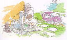 Living Lines Library: 崖の上のポニョ / Ponyo (2008) - Color Keys