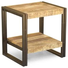 Reclaimed wood and metal side table - eclectic - Side Tables And End Tables - San Francisco - Timbergirl