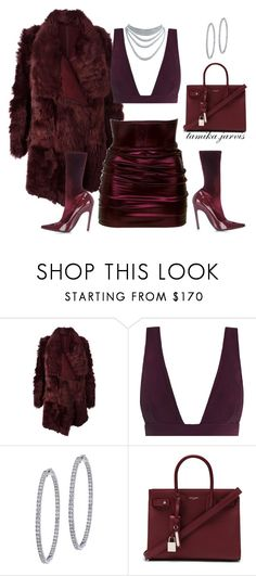 """""""Untitled_24"""" by tamikajarvis on Polyvore featuring Meteo by Yves Salomon, Zimmermann, BillyTheTree, Yves Saint Laurent and Balenciaga"""
