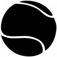 Tennis ball clipart black and white
