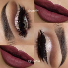 "♥AURORA ♥ on Instagram: ""Gorgeous look  by @ana0m using #GEMsparkles in MORGANITE by @motivescosmetics and me @ana0m @ana0m @ana0m Deets : Eyeshadow @toofaced Semi Sweet Chocolate bar @auroramakeup @motivescosmetics glitter GEMSPARKLES in Morganite @anastasiabeverlyhills browpowder in dark brown @lasplashcosmetics liquid eyeliner in Shipwreck Capper @lasplashcosmetics Hollywood lashes in Nikki @anastasiabeverlyhills liquid lipstick in Vamp #auroramakeup"""