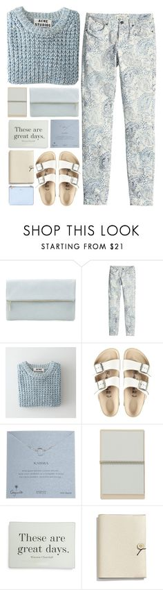 """great days"" by beccaneglia ❤ liked on Polyvore featuring Whistles, H&M, Acne Studios, Birkenstock, Dogeared, Ben's Garden, Coach and Alexander McQueen"