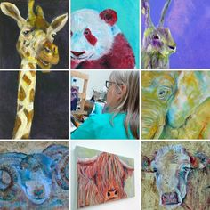 Caroline Skinner Art offers colourful animal artwork and homeware gifts from Caroline's UK art studio. Check out the range of cute animals and gorgeous colours below. See website for details of animal artwork supporting wildlife conservation. Wildlife Paintings, Wildlife Art, Animal Paintings, Farm Animals, Animals And Pets, Cute Animals, Colorful Animals, Artwork Online, Wildlife Conservation