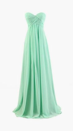 Long Chiffon Bridesmaid Dress