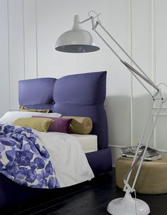 Butterfly shaped headboard to fly away in your dreams! <3