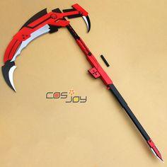 Rwby Ruby Crescent Rose The High Velocity Sniper Scythe Replica PVC Cosplay Prop | eBay