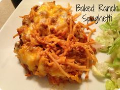 Baked Ranch Spagehetti
